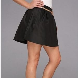 bcbgeneration faux leather mini skirt sz 2 black